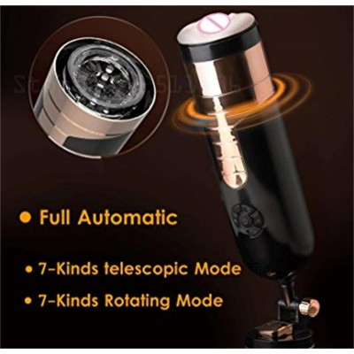 HEARTLEY-Black-King telescopic-rotation-Aine -Masturbator-AMM1100BK802-2